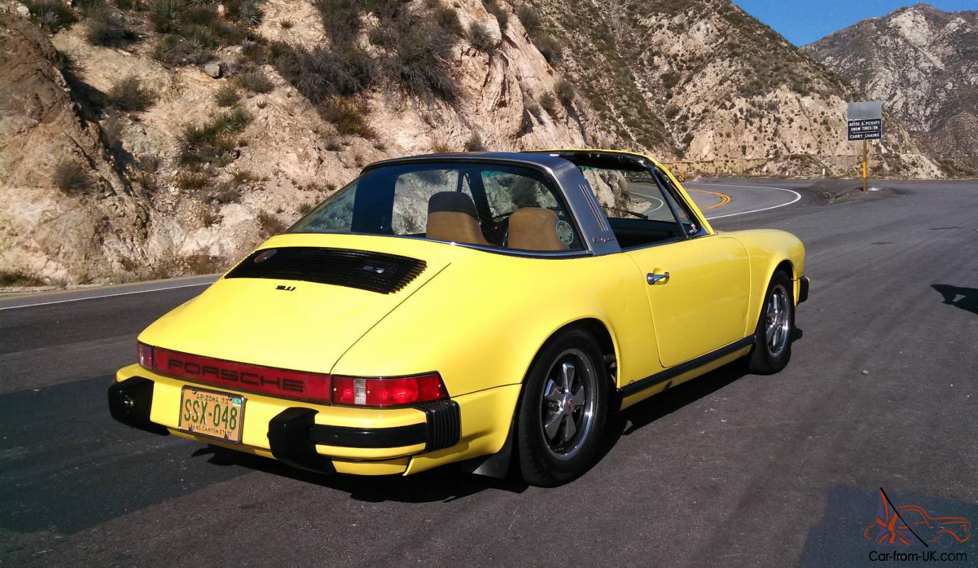 Light Yellow Porsche 911 Targa Original Paint Dry Az