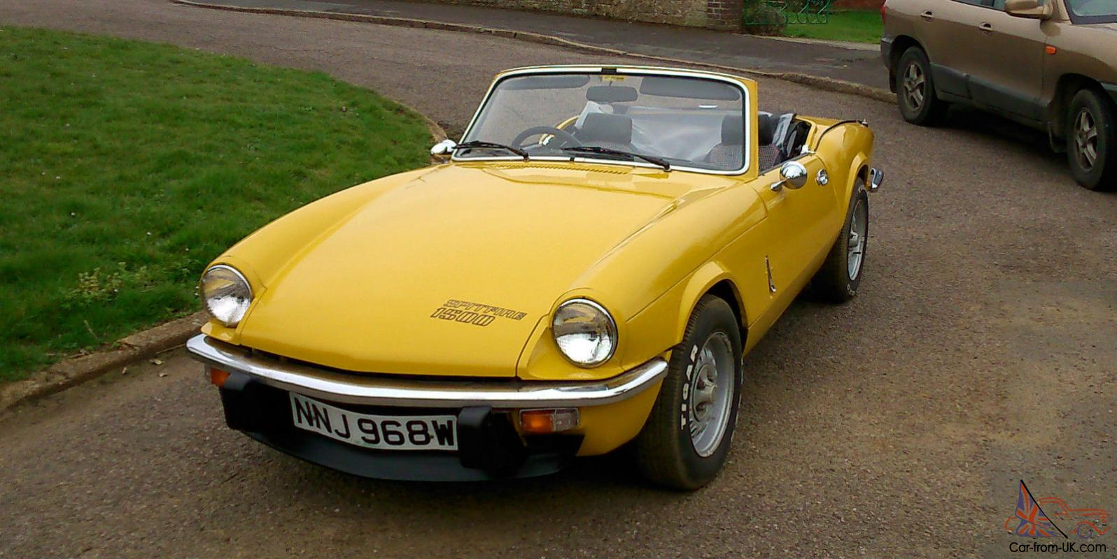 1981 triumph spitfire 1500 yellow. Black Bedroom Furniture Sets. Home Design Ideas