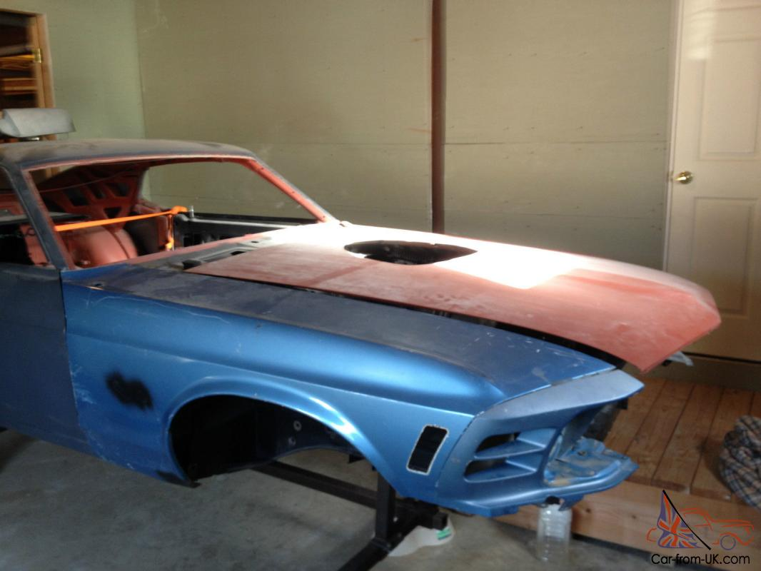 1970 Mustang Fastback Body Shell Rust Free Good For Boss 429 Clone Photo