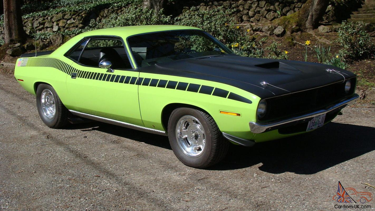 1970 Plymouth Cuda Original 340 4 Sd Lime Lite Green Aar Tribute Clone 6 Bbl