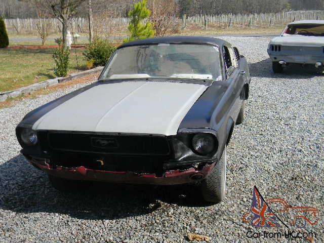 search results 68 mustang fastback project car for sale autos weblog. Black Bedroom Furniture Sets. Home Design Ideas