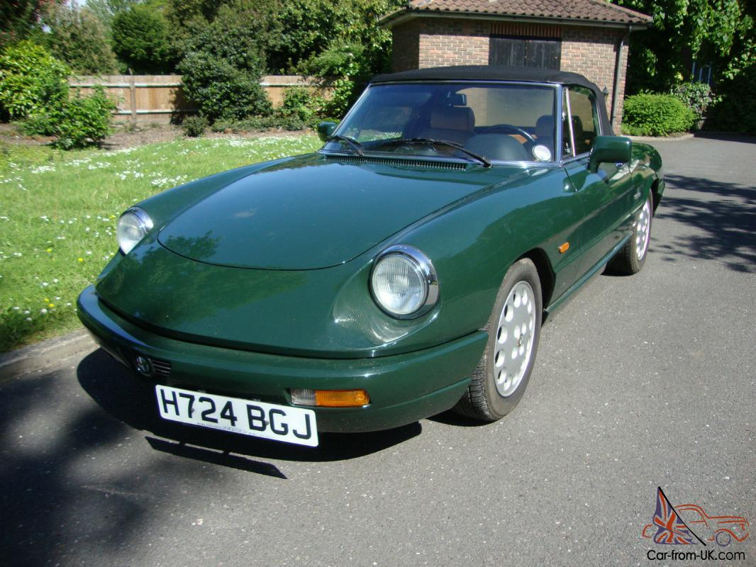 1991 alfa romeo spider s4 immaculate condition. Black Bedroom Furniture Sets. Home Design Ideas