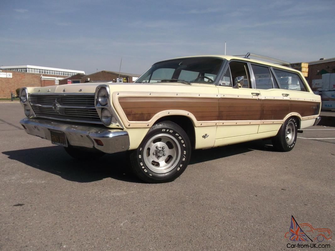 1966 FORD FAIRLANE SQUIRE WOODY WAGON SPRINGTIME YELLOW VERY