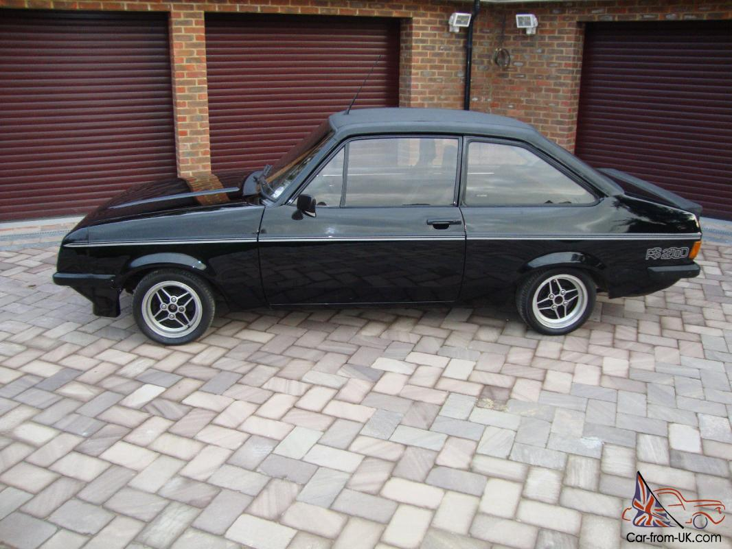 RS 2000 MK2 ESCORT In Black