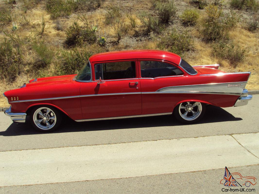 1957 chevy 210 hot rod with bel air trim. Black Bedroom Furniture Sets. Home Design Ideas