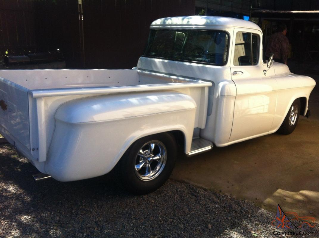 1955 chevy short bed stepside big back window pickup. Black Bedroom Furniture Sets. Home Design Ideas