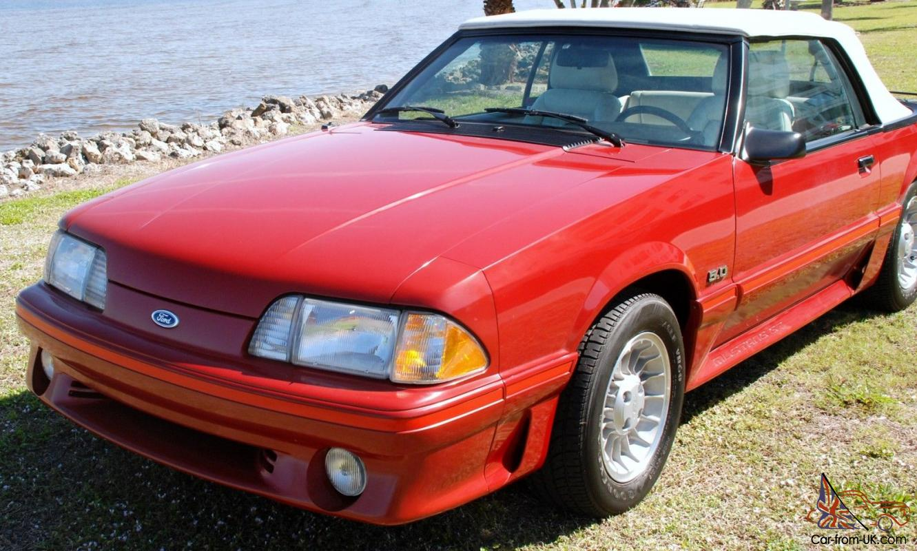 rare 1987 ford mustang red gt convertible 3700 original. Black Bedroom Furniture Sets. Home Design Ideas