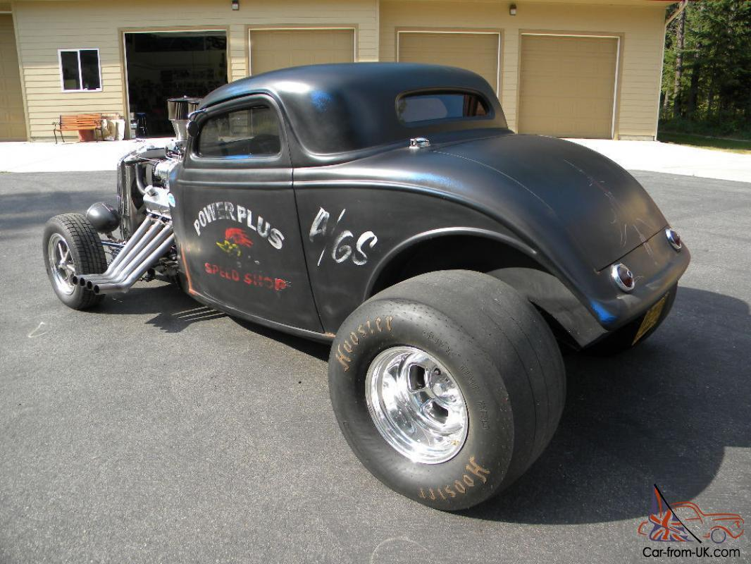 1934 ford three window coupe blown hot rod street rod gasser for 1934 ford three window coupe for sale