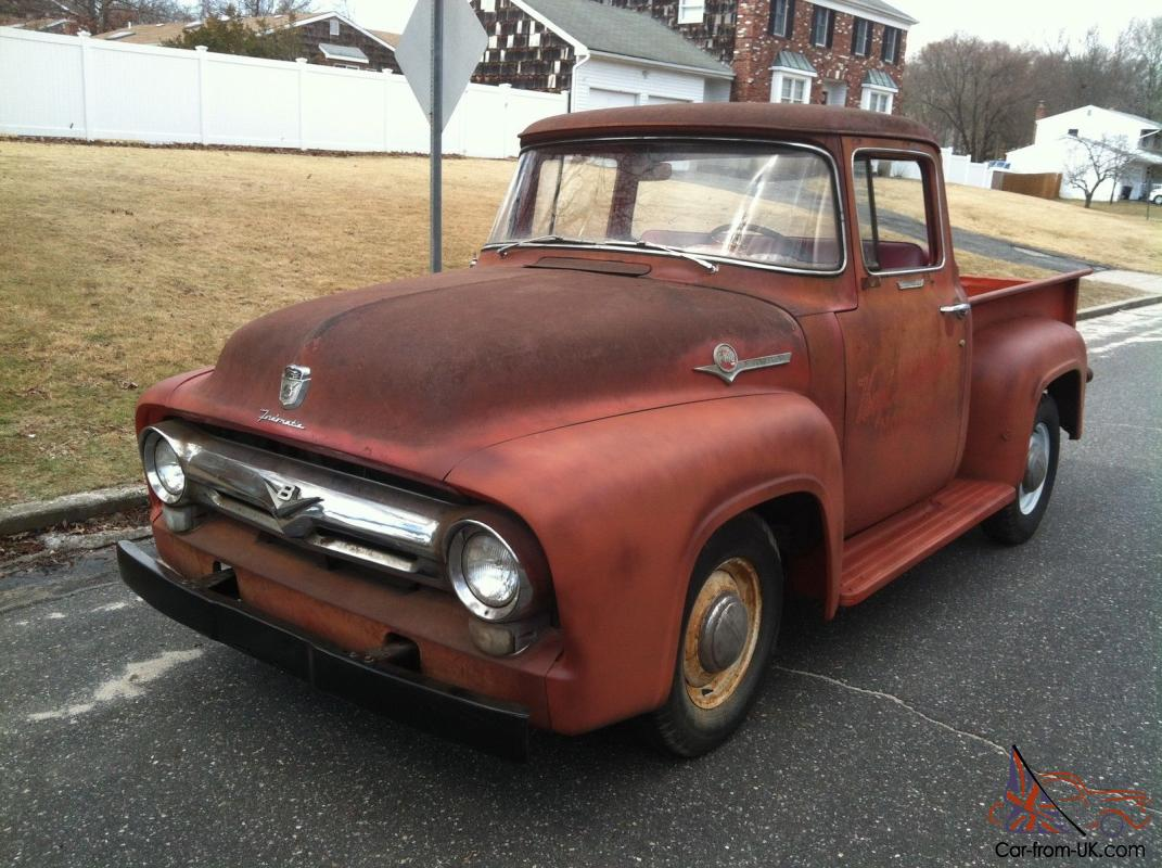 1956 ford f100 pickup big back window truck original v8