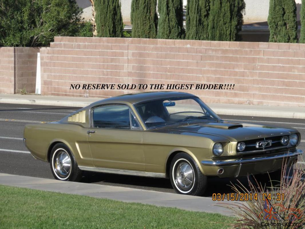 No reserve 1965 ford mustang fastback 4 speed runs and drives photo