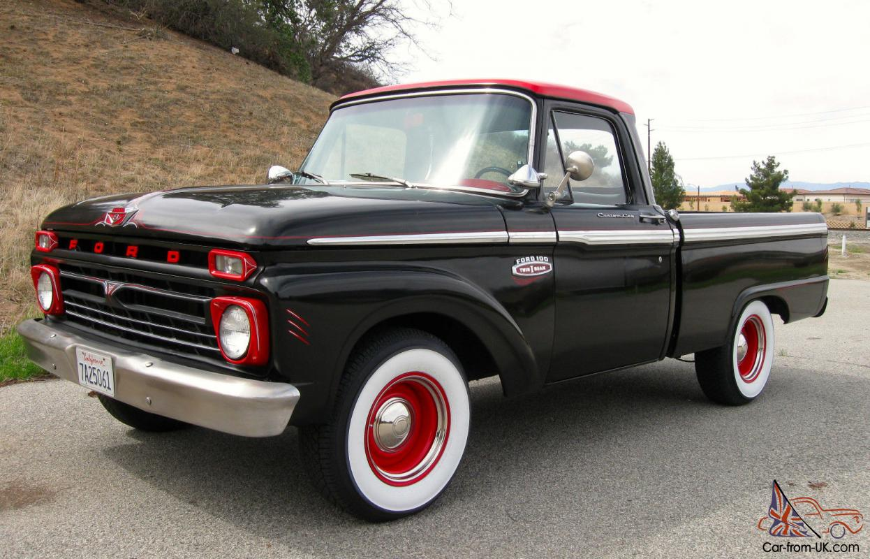 1965 ford f100 custom cab short bed pickup truck. Black Bedroom Furniture Sets. Home Design Ideas