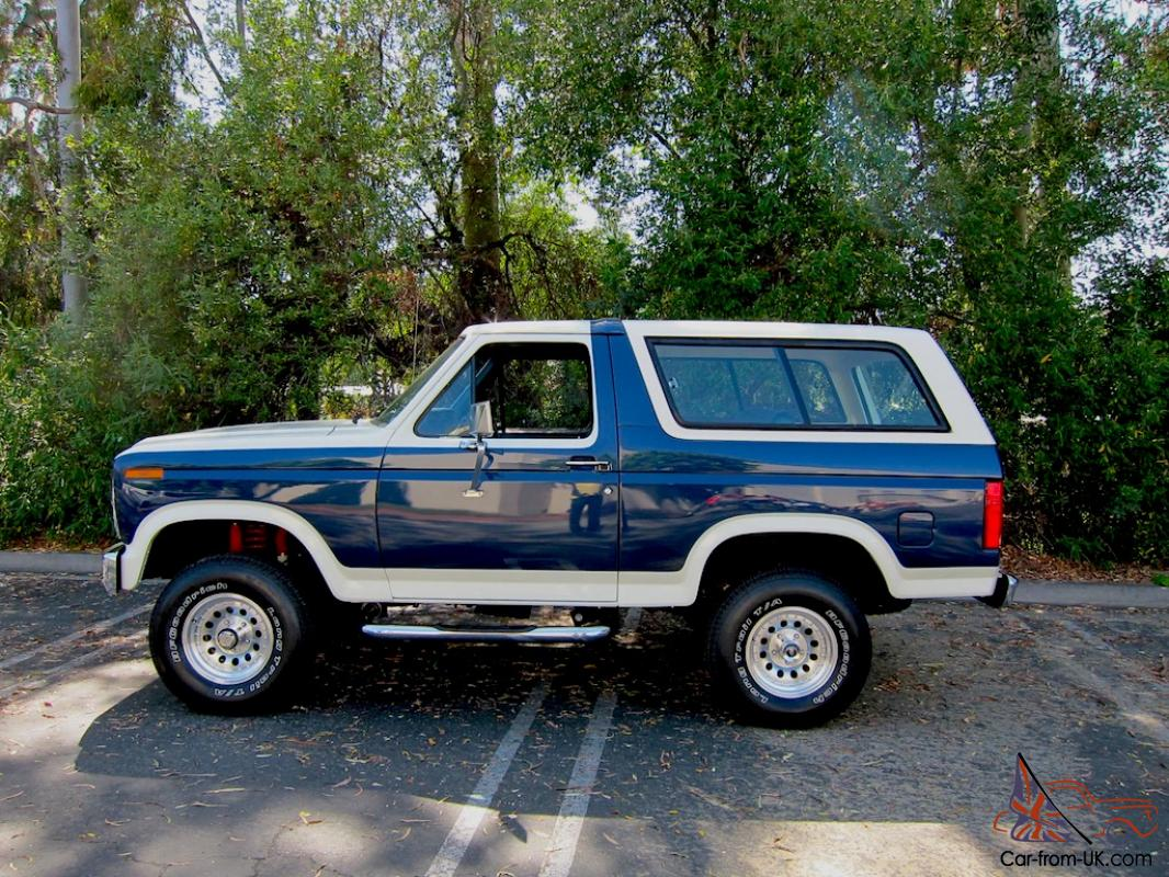 1981 Ford Bronco Xlt Celebrity Nfl Player Mint Rare Ground