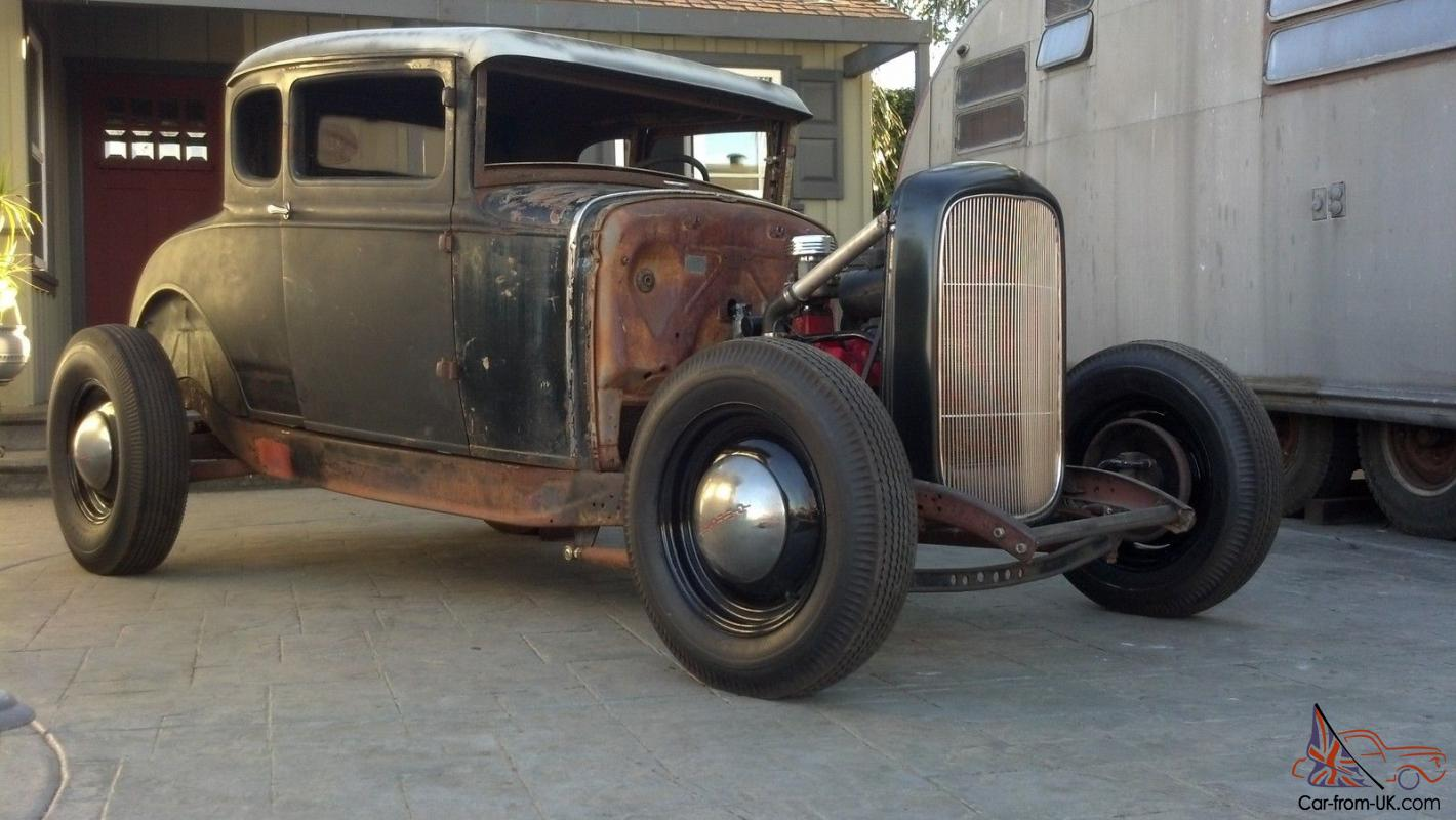CHOPPED HOT ROD 1930 FORD 1932 DUECE FRAME MODEL A NO RAT 30 31 28 29
