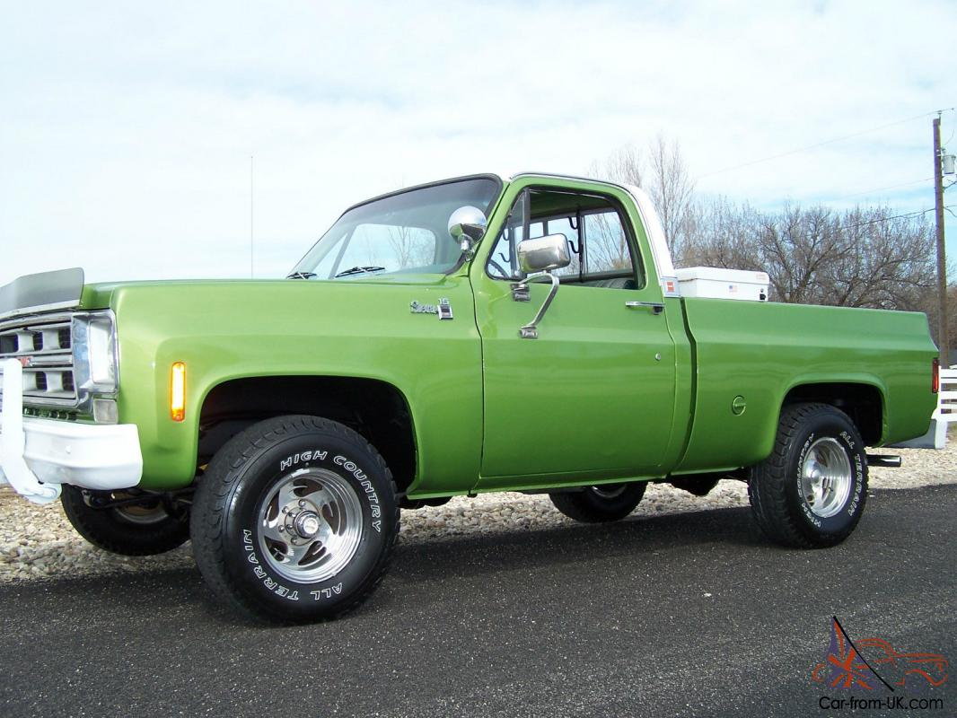 1975 gmc chevy 4x4 shortbed 1 owner 4speed 350 original condition. Black Bedroom Furniture Sets. Home Design Ideas