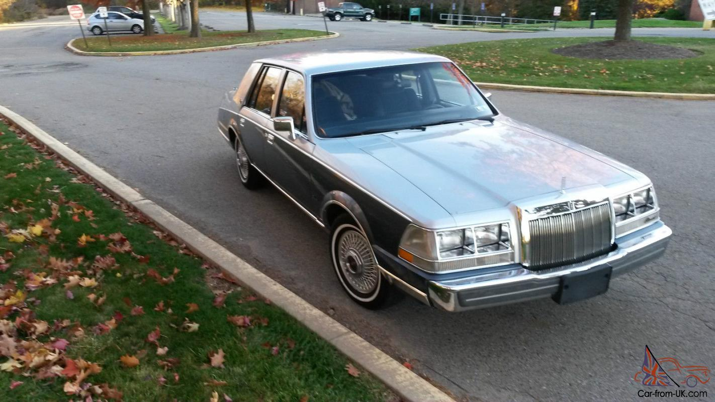 All Original 1985 Lincoln Continental Very Good Condition True Baby