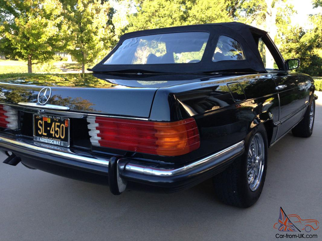 1972 mercedes benz 450sl convertible black on black euro for 1972 mercedes benz