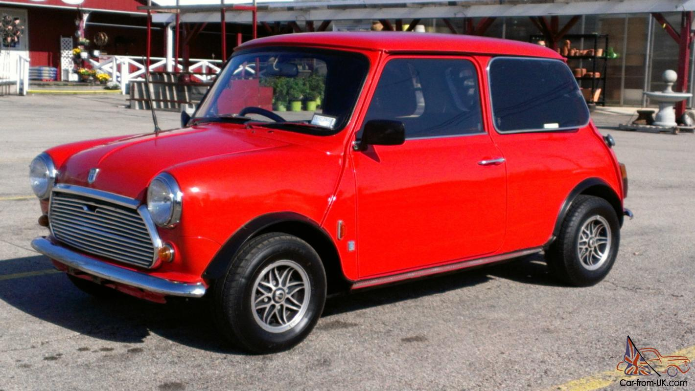 mini cooper 2 door 1000cc 1974 orange right hand drive. Black Bedroom Furniture Sets. Home Design Ideas