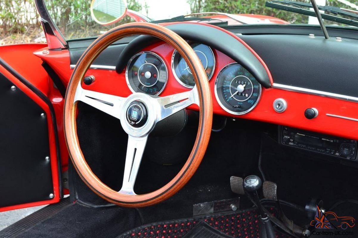 1957 Porsche 356 Speedster Replica Red With Black Interior 20013 Miles