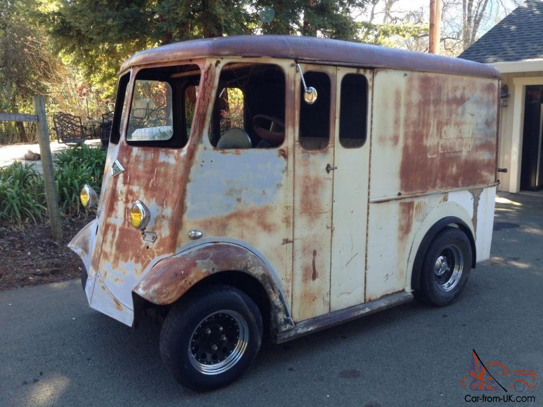 rare classic divco vintage hot rod ford chevy barn project truck panel wagon van. Black Bedroom Furniture Sets. Home Design Ideas