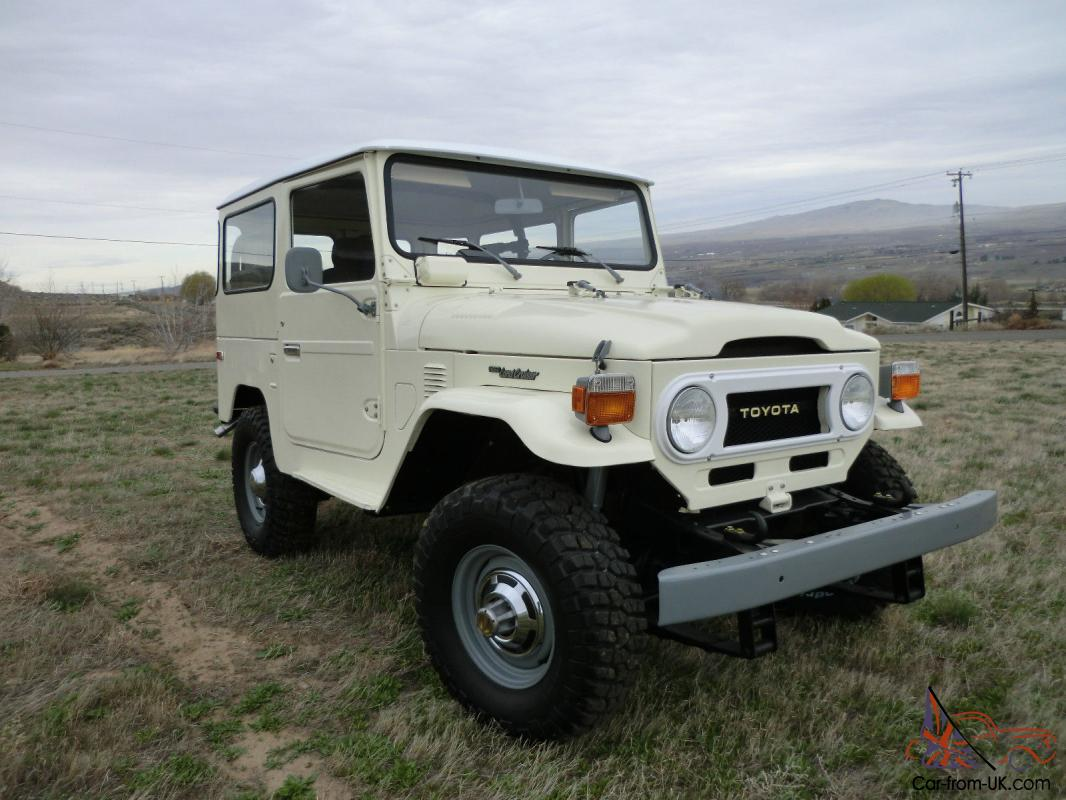 1976 toyota land cruiser fj40 beautiful brand new stock. Black Bedroom Furniture Sets. Home Design Ideas