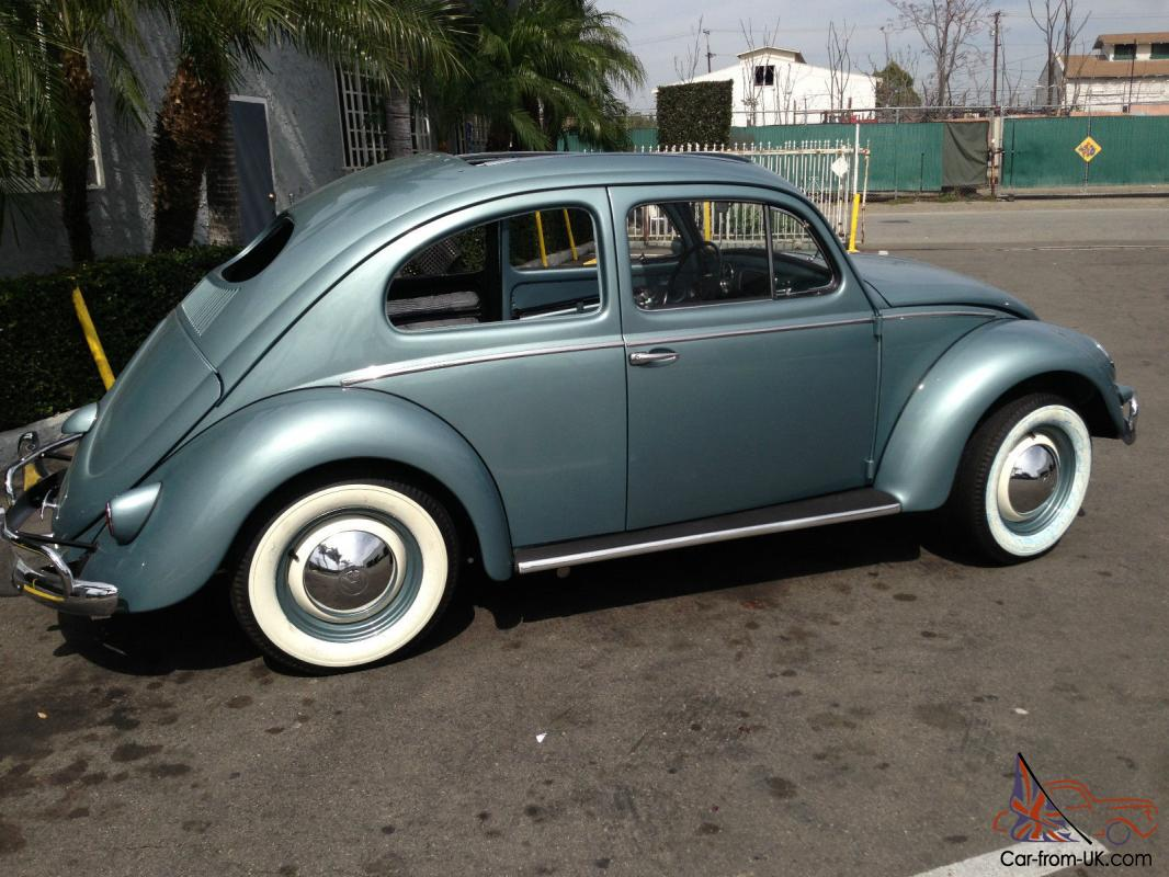 1957 vw beetle deluxe sunroof oval window