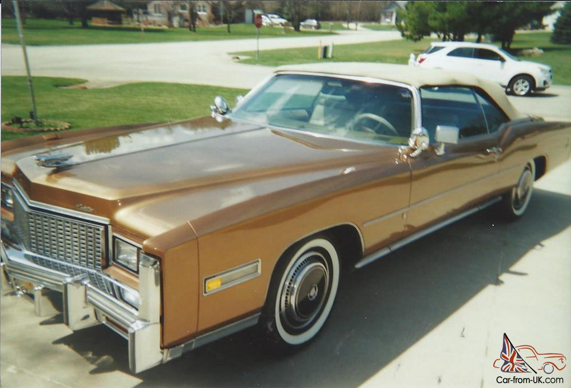 1976 cadillac fleetwood eldorado convertible w/500cid v-8 new tires