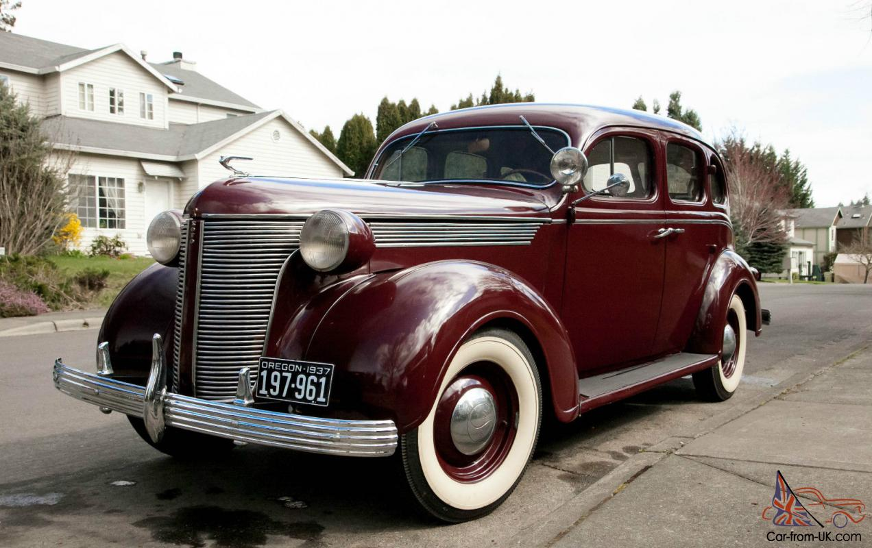 1937 desoto sedan burgandy 4 door original chevy dodge for 1937 chevy 4 door sedan