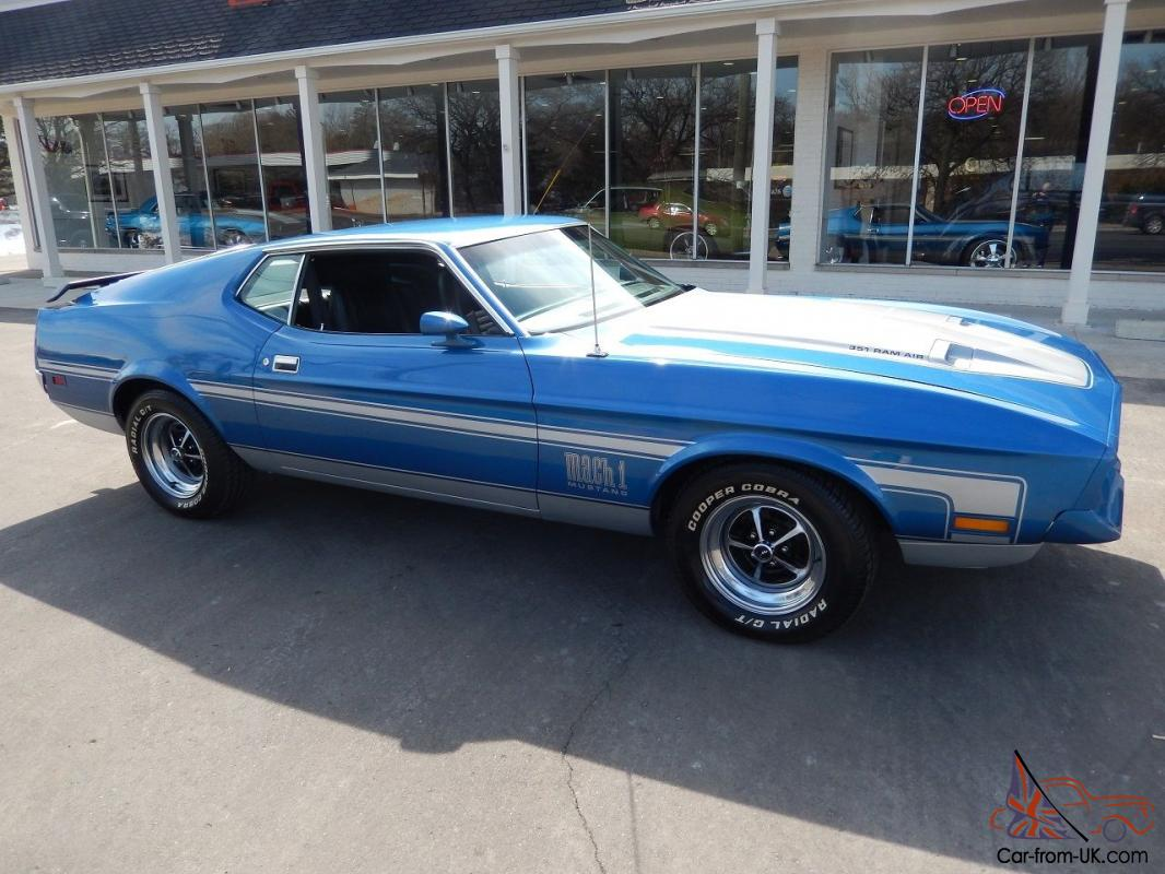 1972 ford mustang mach 1 matching numbers q code 351 cobra jet fully documented