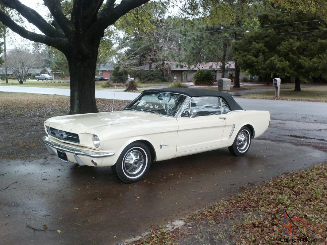 true rare 1964 1 2 mustang convertible 1965 1966 coupe fastback. Black Bedroom Furniture Sets. Home Design Ideas