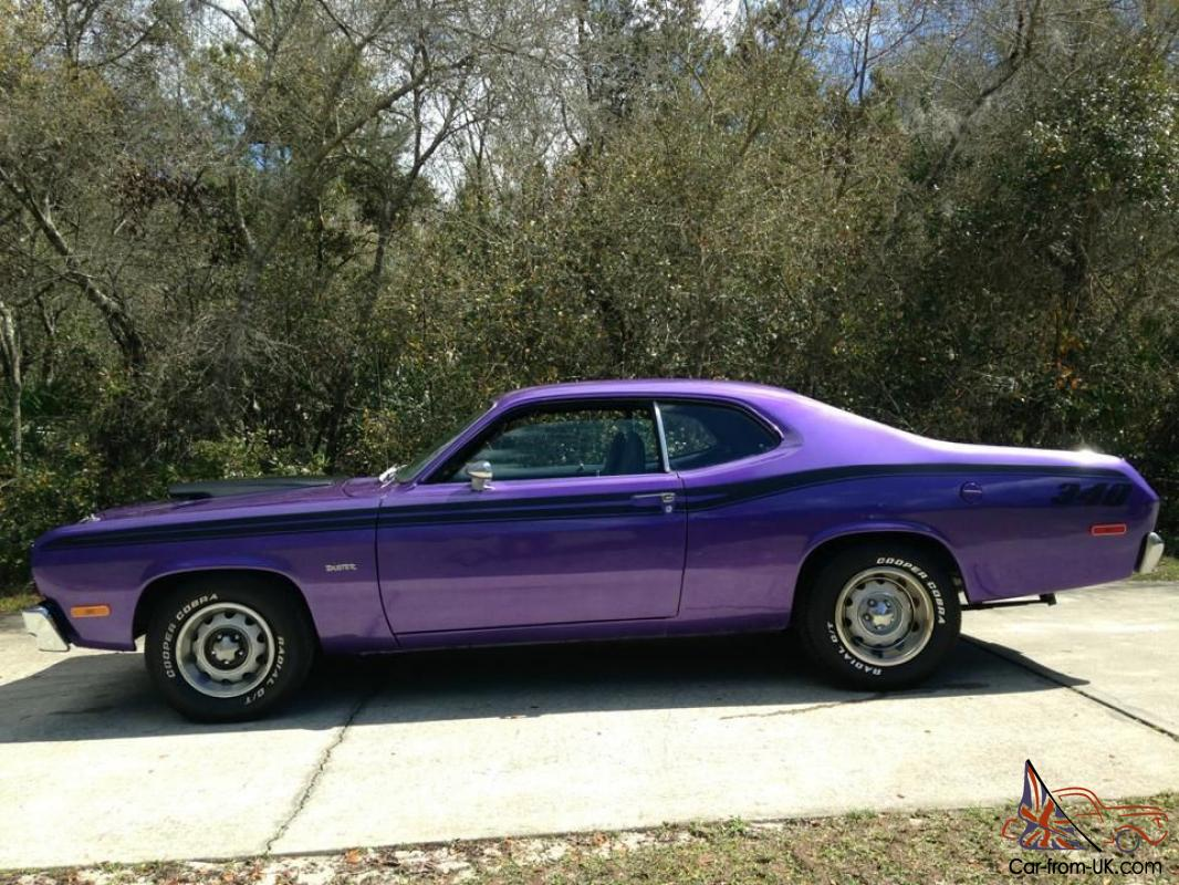 1973 plymouth duster real 340 numbers matching high option car low reserve. Black Bedroom Furniture Sets. Home Design Ideas