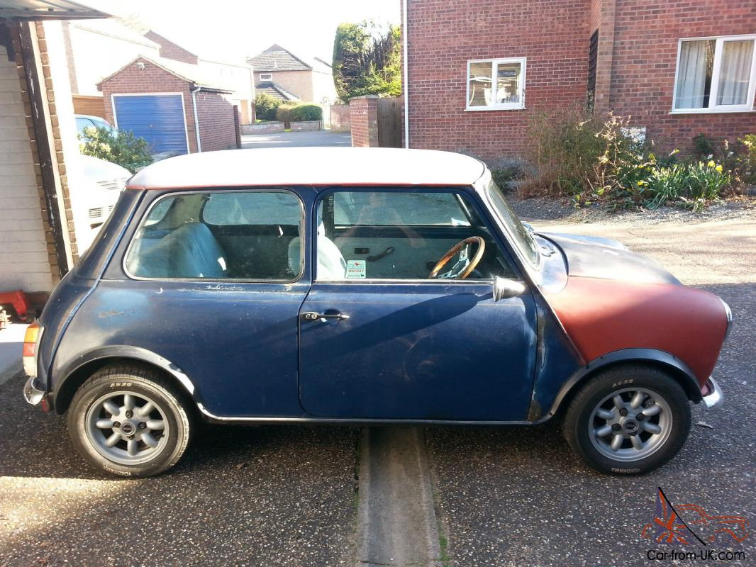 Classic Mini, restoration, unfinished project, spares or repair