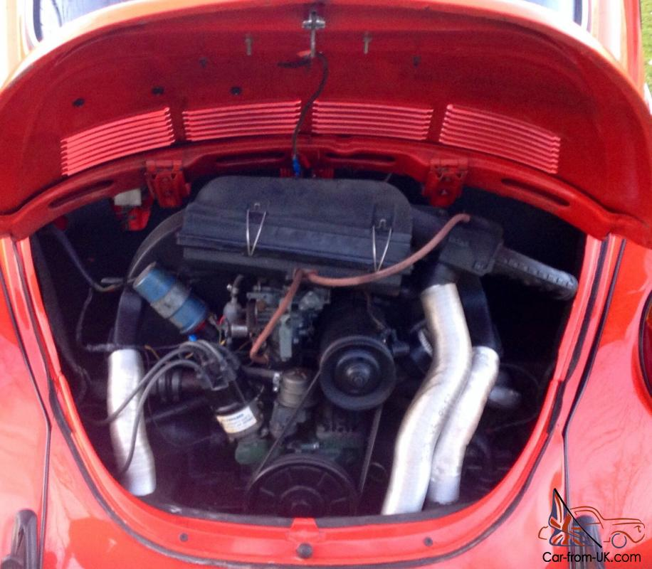Vw 1600 Beetle For Sale: VW Volkswagen Classic GT Beetle 1972 1600 Tomato Red 1303S