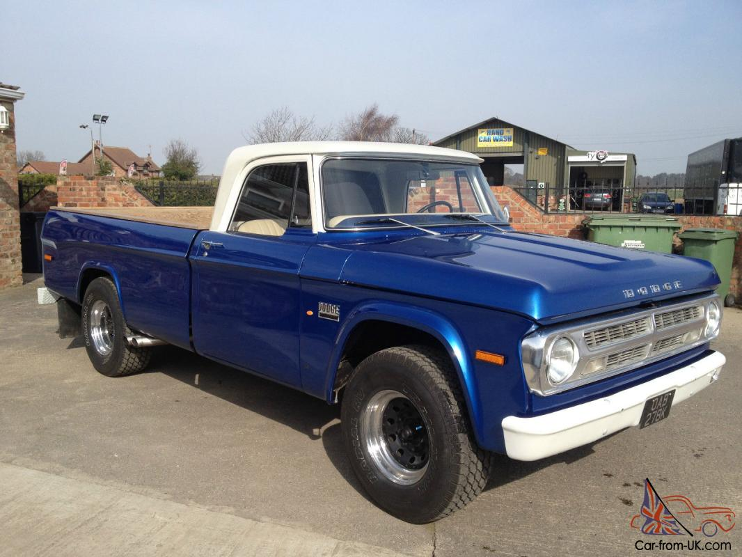 1971 dodge d200 v8 manual pick up recently restored and. Black Bedroom Furniture Sets. Home Design Ideas