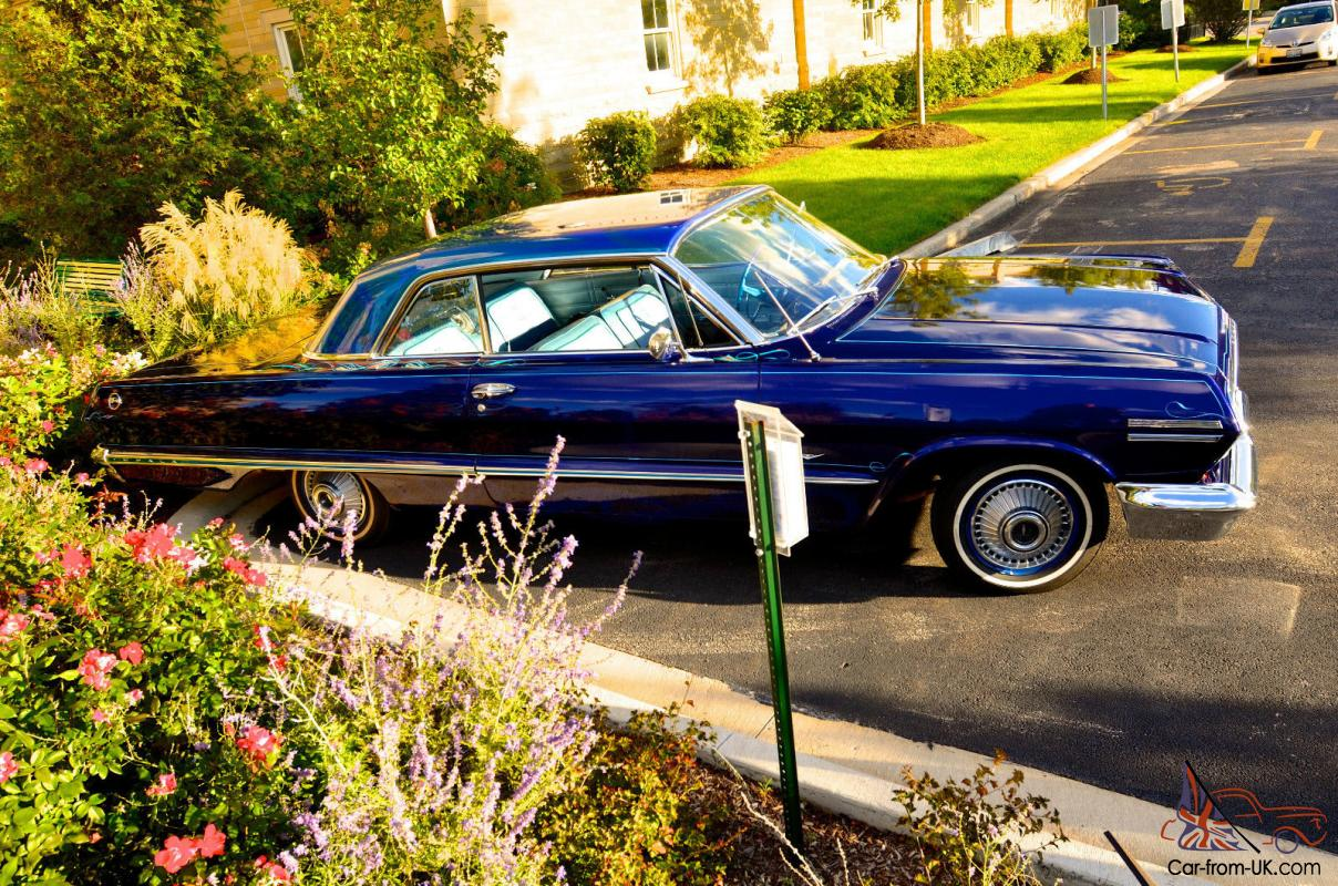 1963 Chevy Impala Custom Blue 2 Door 63 Chevy Impala Look 12 Pictures