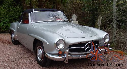 Mercedes benz 190sl lhd 15000 miles from new presented in for Mercedes benz 15000
