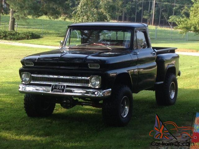 1966 chevy c 10 step side swb 4x4 must see. Black Bedroom Furniture Sets. Home Design Ideas