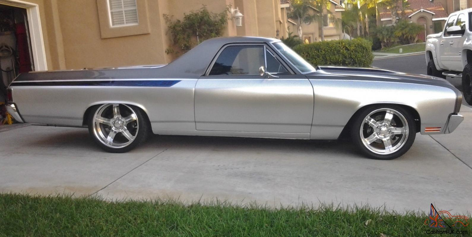 1970 70 chevy el camino ss pro touring resto mod beautifully done well over 60k. Black Bedroom Furniture Sets. Home Design Ideas