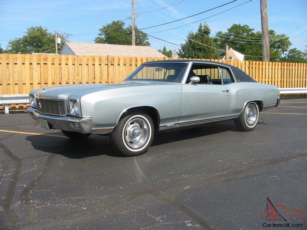 1971 Monte Carlo SS454 Z20. One of 1919 built. Same owner for last 26 years.