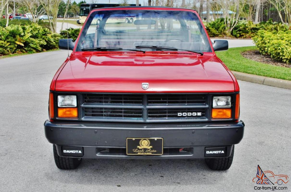 Very Rare Just 72833 Miles 1989 Dodge Dakota Convertible Loaded And 1986 Ram D250 Pictures Only Mint Truck
