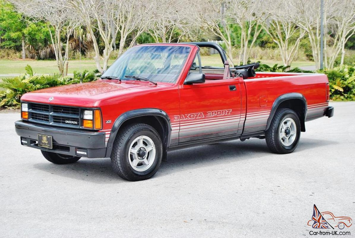 Very Rare Just 72833 Miles 1989 Dodge Dakota Convertible Loaded And Mint Truck