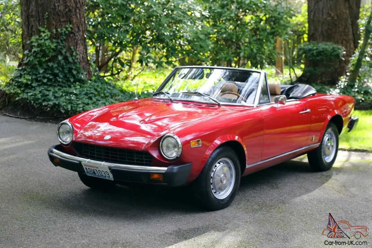 1976 fiat spider 124 1800cc 2 2 convertible all original 126k. Black Bedroom Furniture Sets. Home Design Ideas