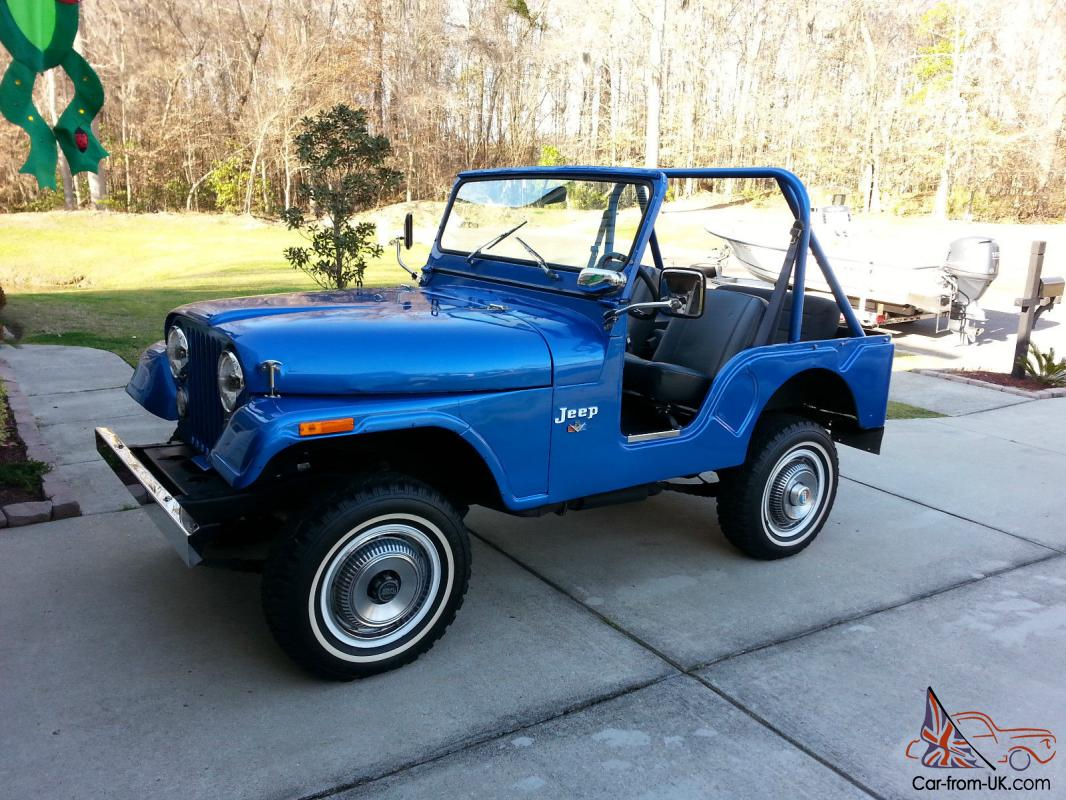 rare 1973 jeep cj5 must see and hear amc v8. Black Bedroom Furniture Sets. Home Design Ideas