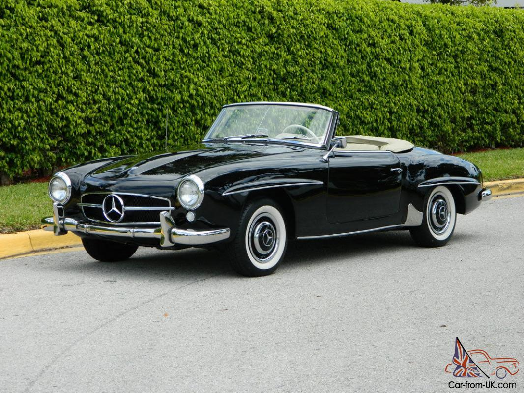 1955 mercedes benz 190sl db40 black parchment fully for Vintage mercedes benz