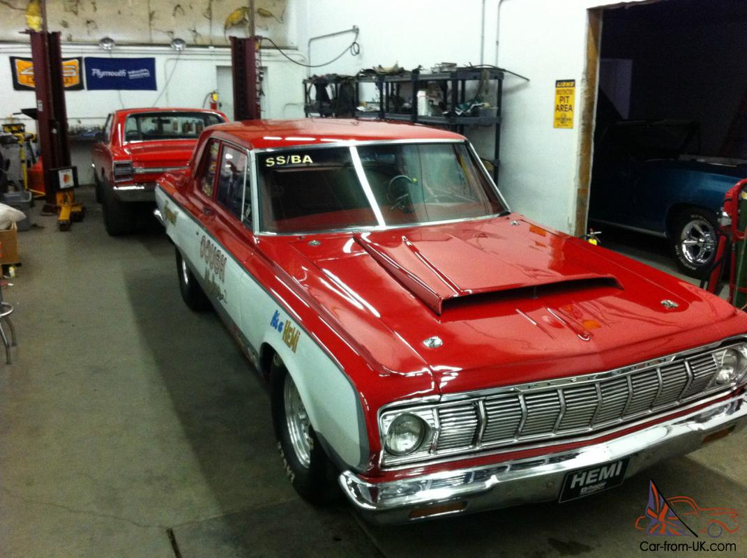 1964 Plymouth Savoy Base 7 0l Super Stock Drag Car With