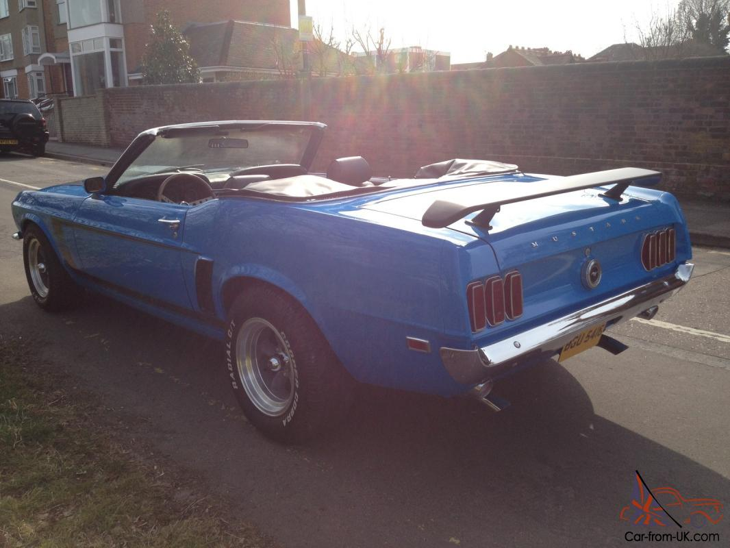 Automatic Cars For Sale Ebay Uk: FORD MUSTANG CONVERTIBLE 302 1969 AUTOMATIC