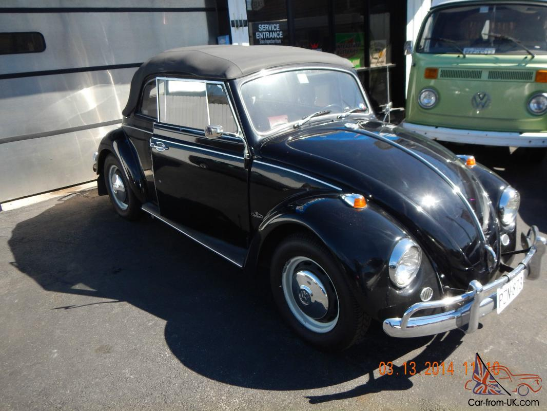 very rare to find black 1967 vw convertible beetle with 1493 cc engine. Black Bedroom Furniture Sets. Home Design Ideas