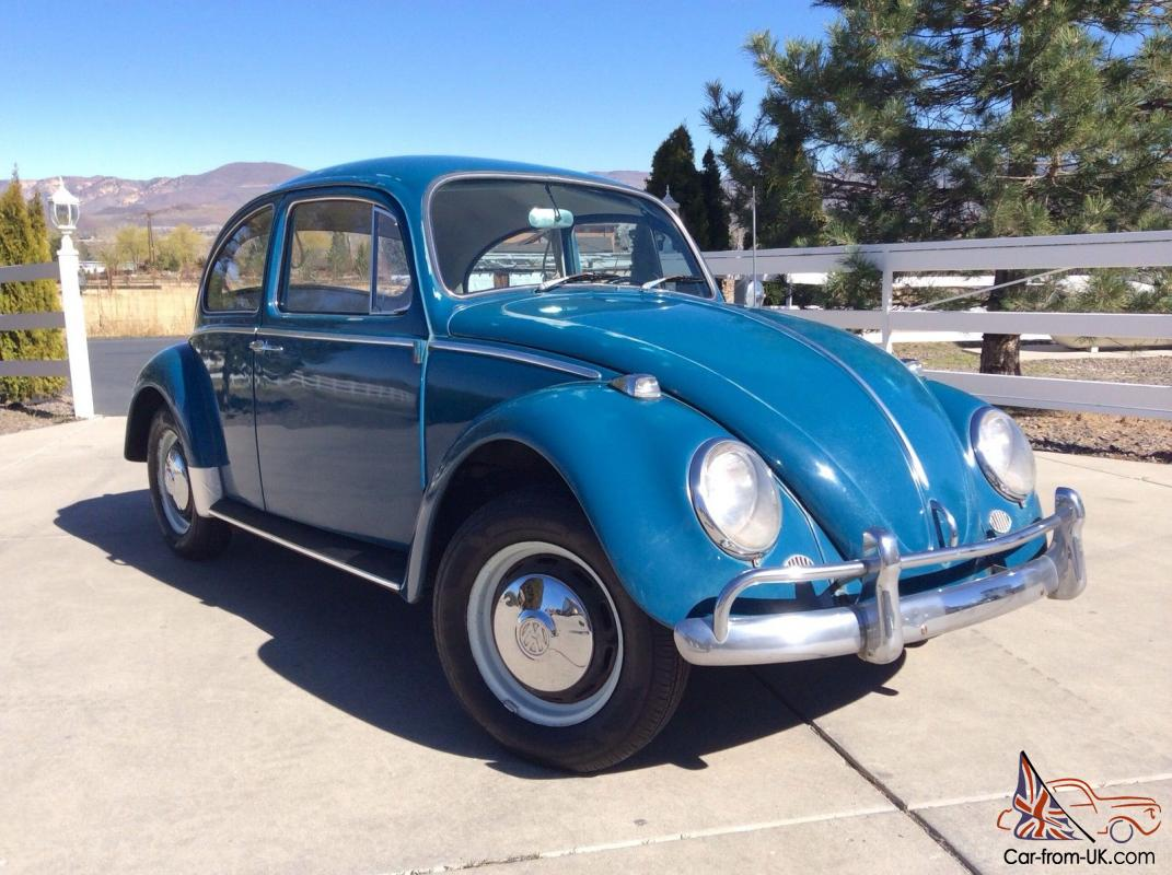 original 1966 volkswagen vw bug beetle sea blue sedan new. Black Bedroom Furniture Sets. Home Design Ideas