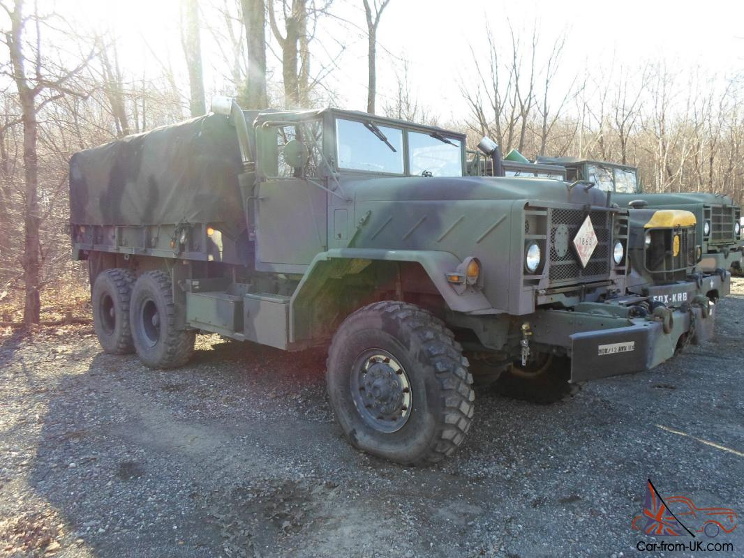 ma   general cummins diesel flatbed military army cargo truck