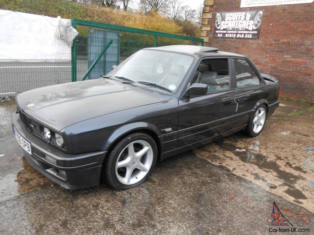 1989 f bmw e30 325i sport m tech ii coupe black leather manual classic rare mot. Black Bedroom Furniture Sets. Home Design Ideas