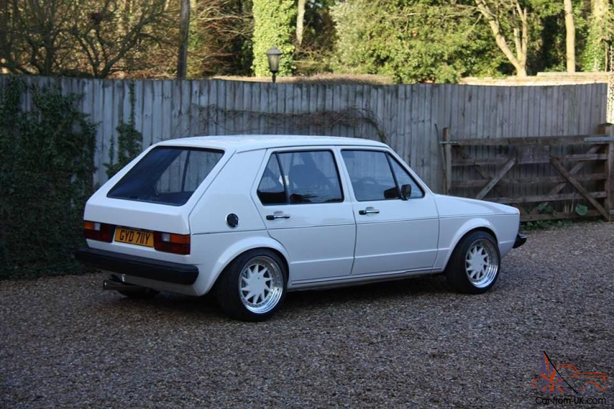 1982 volkswagen mk1 golf with 1 8t 20v conversion highly modified